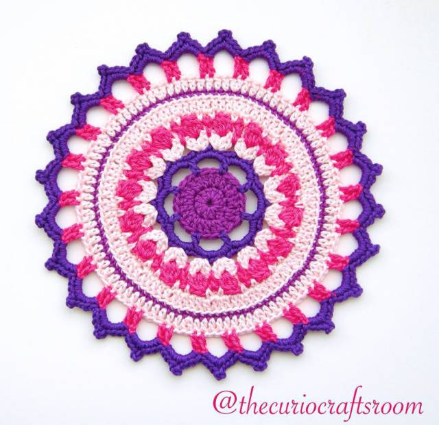 christas crochet mandala for wink