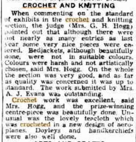crochet award