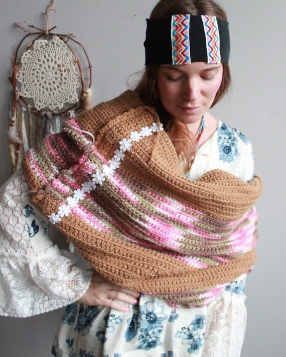 crochet blanket cowl