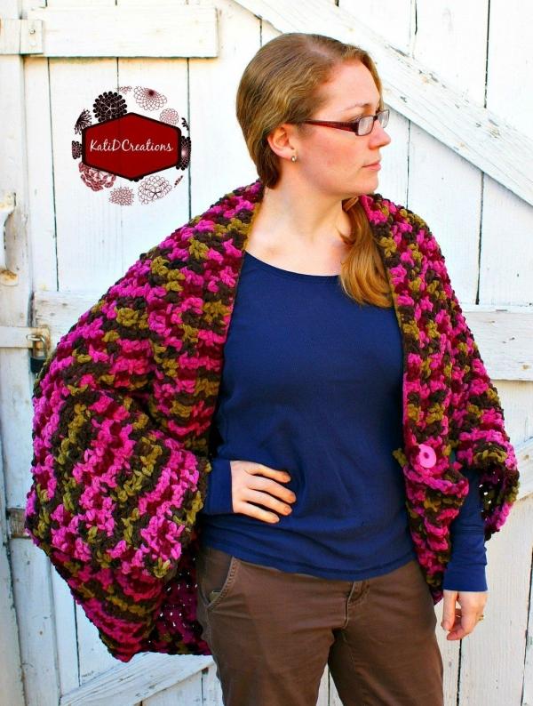 crochet jacket blanket