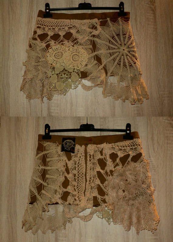 crochet doily skirt