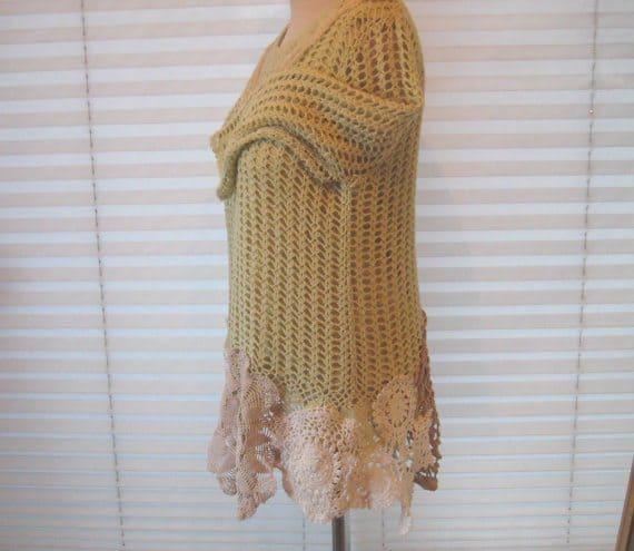 crochet doily sweater