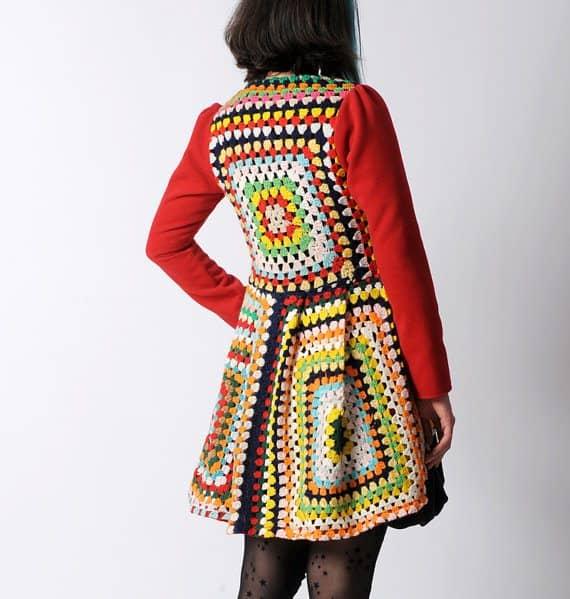 granny square crochet waistcoat