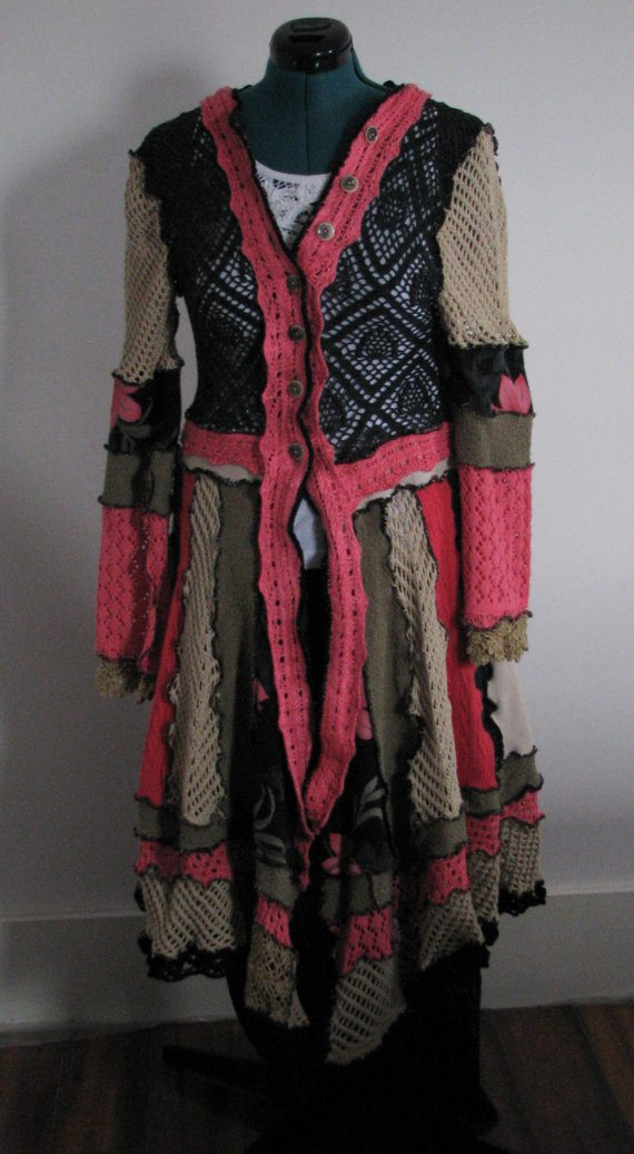 mixed media crochet dress