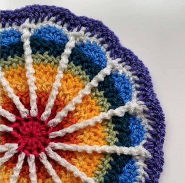 morwenna rainbow crochet mandala