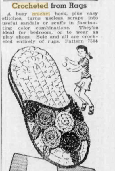 rag crochet shoes