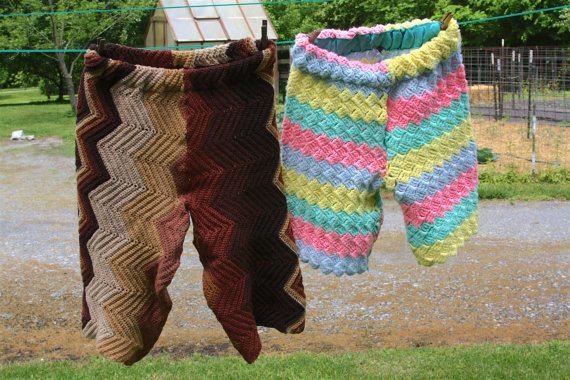 upcycled crochet shorts