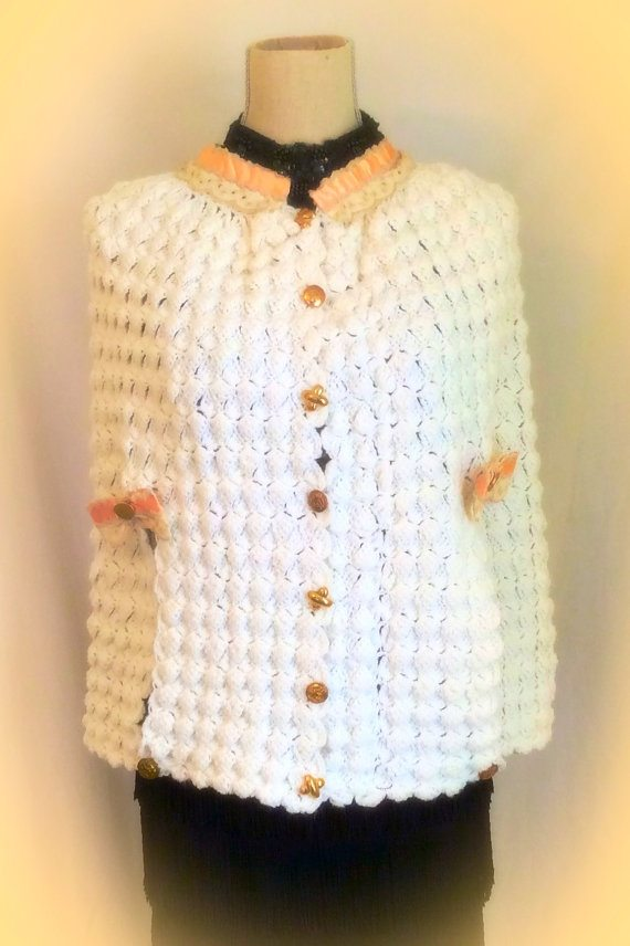 upcycled crochet sweater