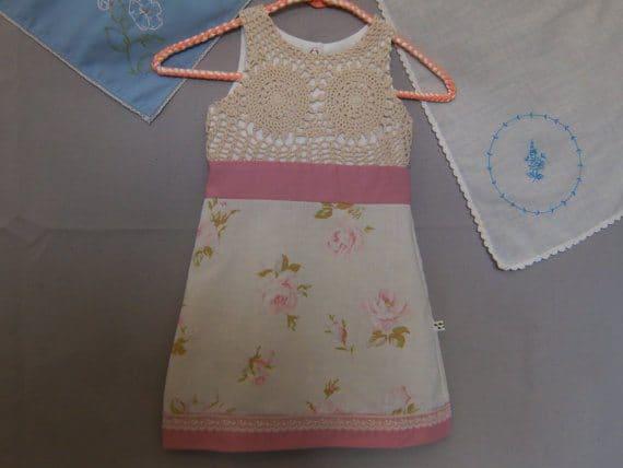 upcycled vintage crochet dress