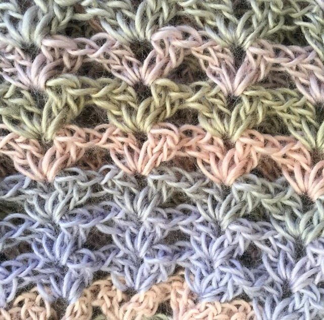 v stitch crochet shell