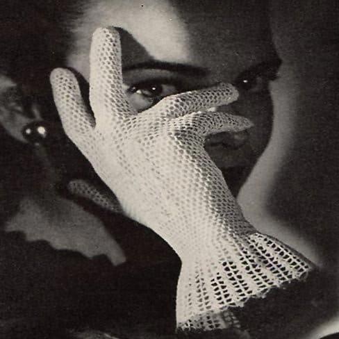 vintage 1944 crochet lace gloves pattern