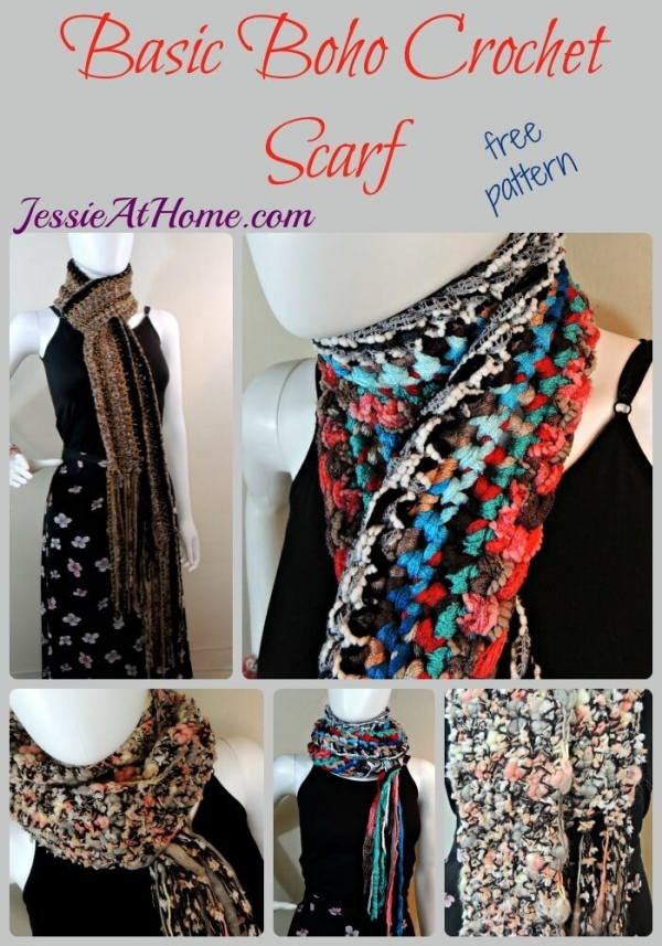 boho crochet scarf free pattern