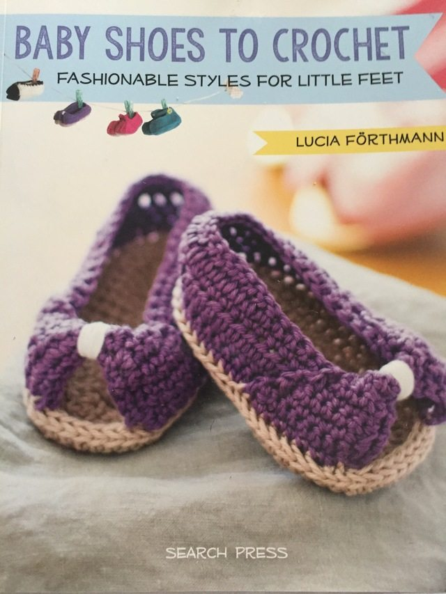 crochet baby shoes book