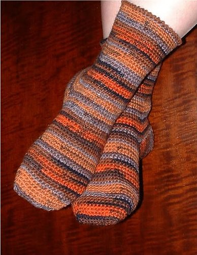 crochet socks free pattern