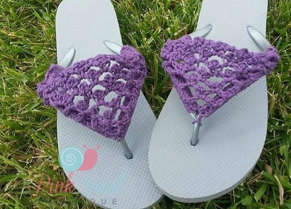 Knitting Pattern For Flop : Summertime Crochet: How to Crochet Over Flip Flops   Crochet Concupiscence