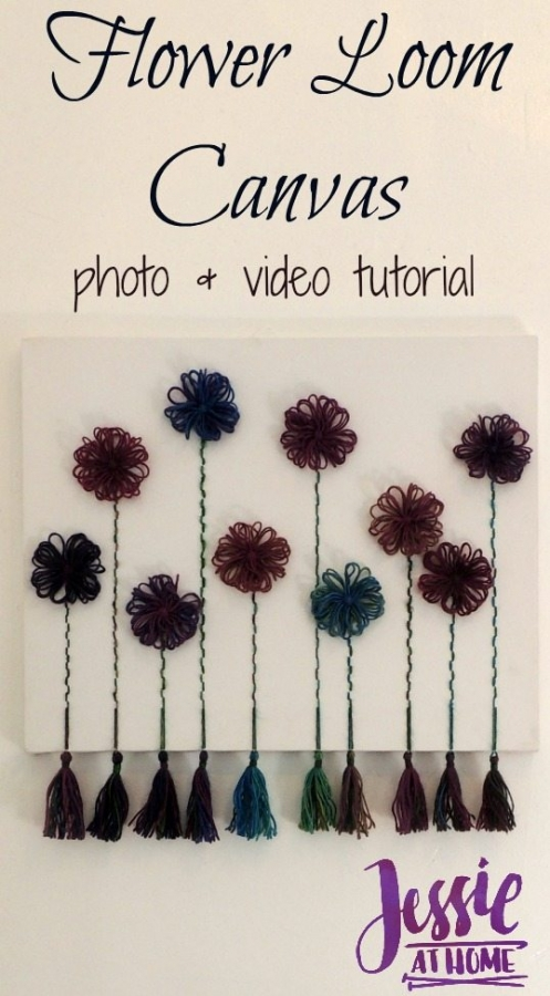 flower loom canvas tutorial