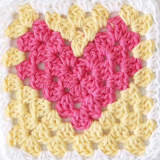 granny heart crochet