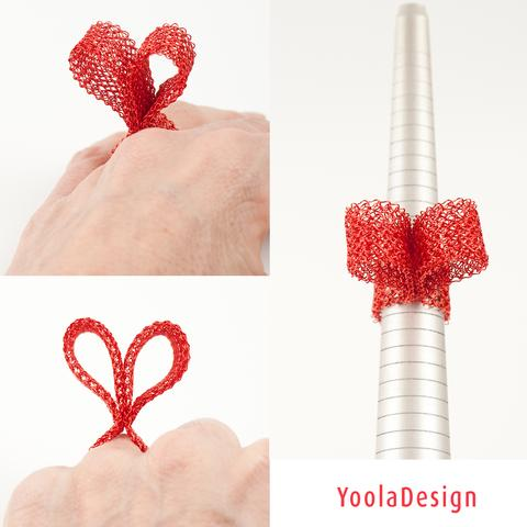 heart ring wire crochet
