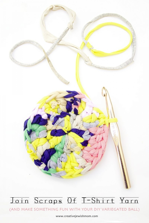 how to make t-shirt yarn ball