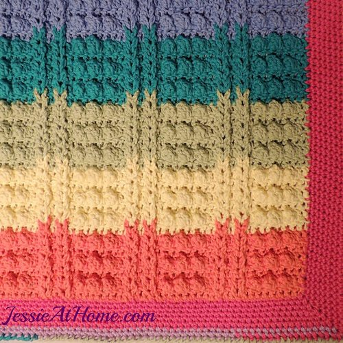 rainbow bathmat free crochet pattern