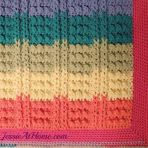 rainbow bathmat free crochet pattern