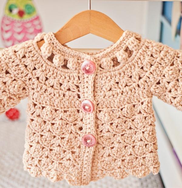 shell cardi crochet pattern