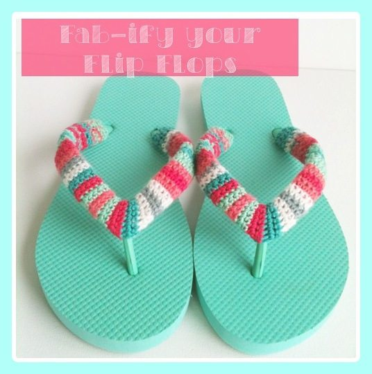 striped flip flops free crochet pattern