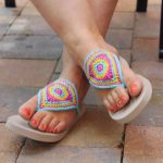 triangle flip flops crochet pattern