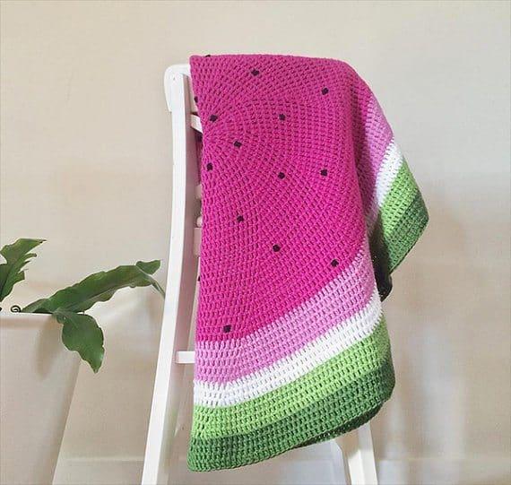 watermelon crochet blanket