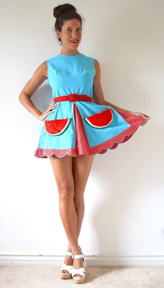 watermelon crochet pockets