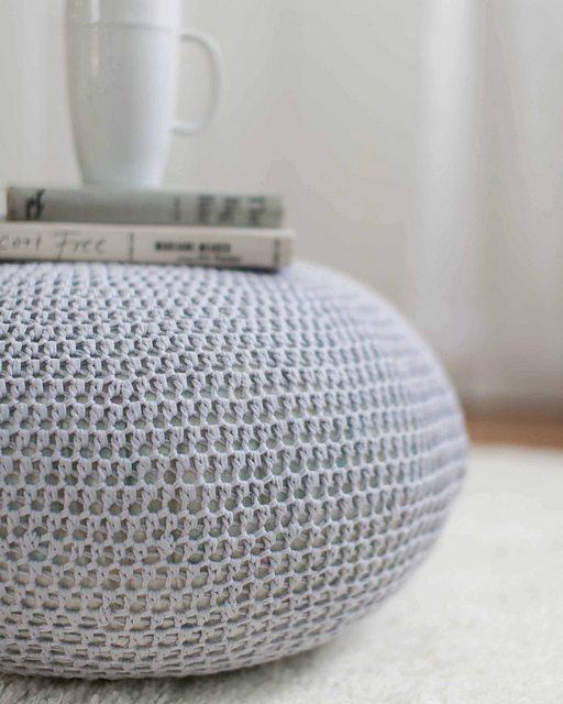 crochet pouf pattern in crochet to calm