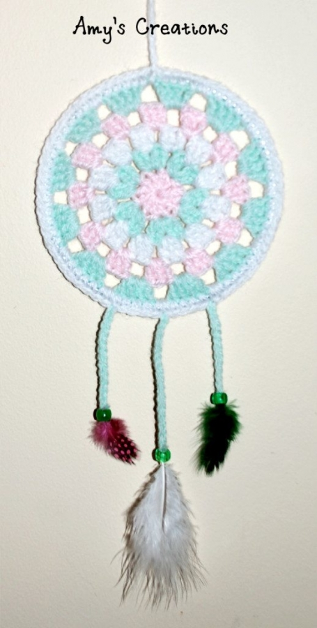 Crochet dream catcher free pattern from Amy?s Crochet Patterns ...