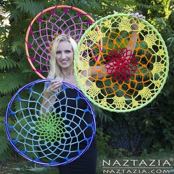 hula hoop dream catcher tutorial