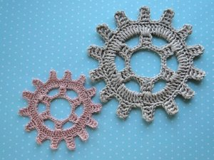 steampunk crochet gear free pattern