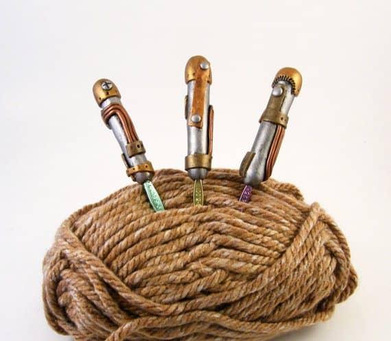 steampunk haaknaald handgrepen