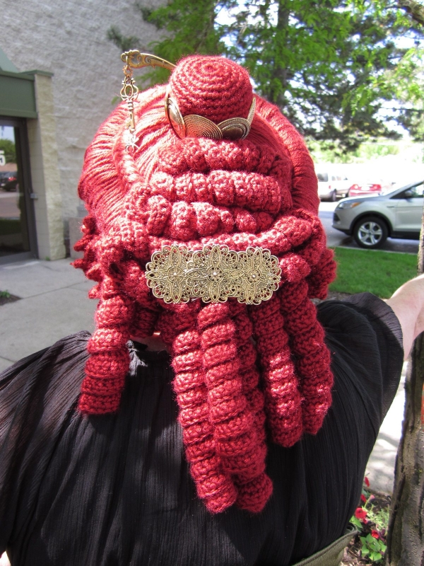steampunk crochet wig