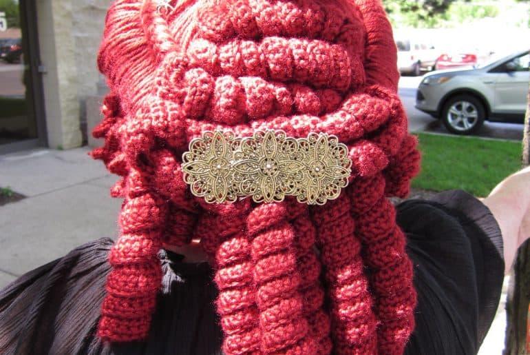 Goth Hoodie Scarf by doilydeas | Crochet patterns, Diy goth ... | 515x770