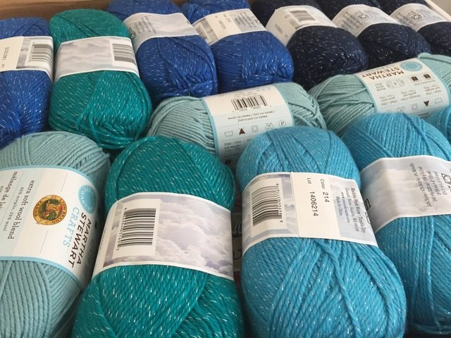 yarn for blue ombre blanket