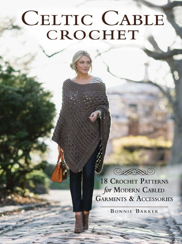 Celtic cable crochet is a new book by bonnie barker who uses her