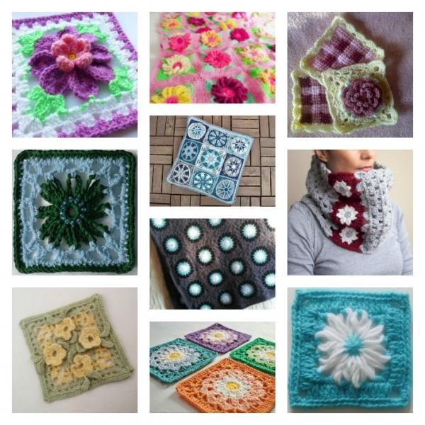 floral-crochet-granny-square-patterns