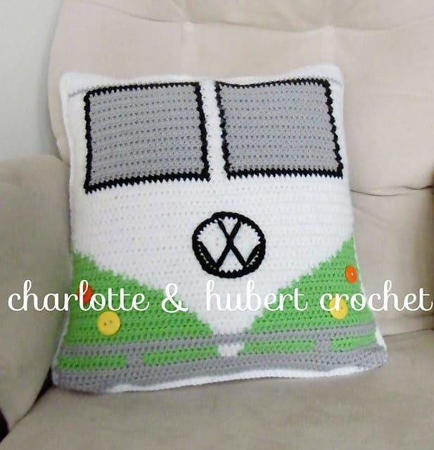vw-van-crochet-cushion-cover-free-pattern