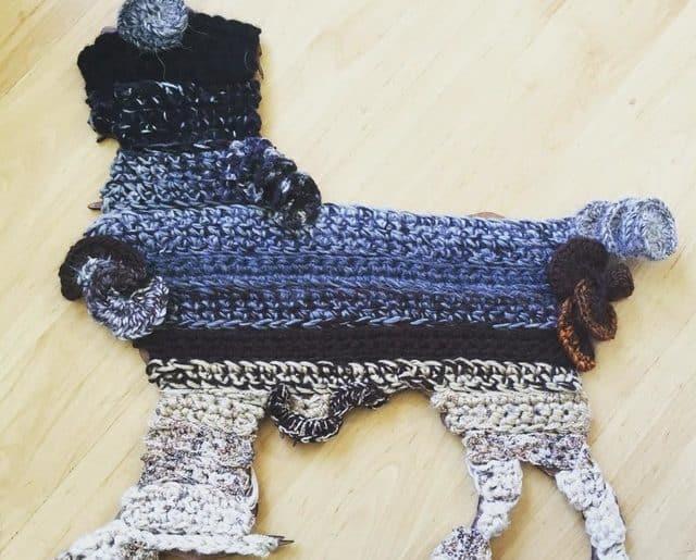 crochet dog art
