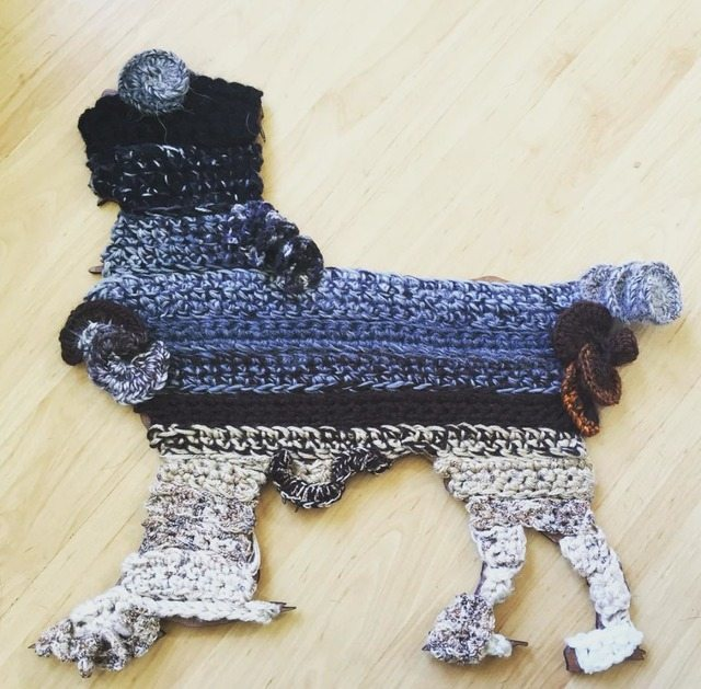 uncinetto cane arte