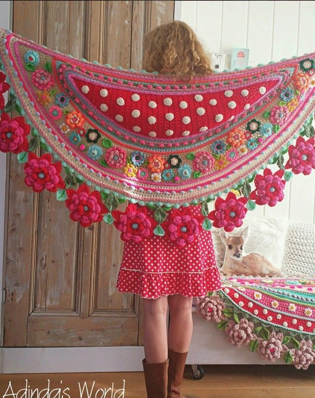Crochet Floral Shawl Pattern : Interview with Crochet Artist Adinda Zoutman