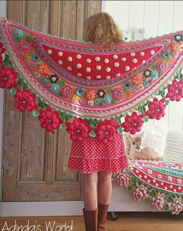 Crochet Floral Shawl Pattern : Interview with Crochet Artist Adinda Zoutman