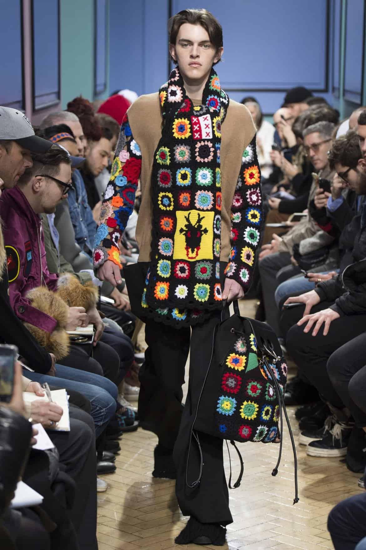 j.w.anderson fall crochet menswear granny squares
