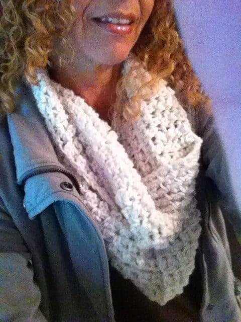 cozy crochet scarf by inna