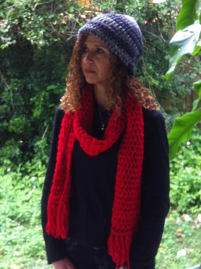 crochet scarf by inna acosta