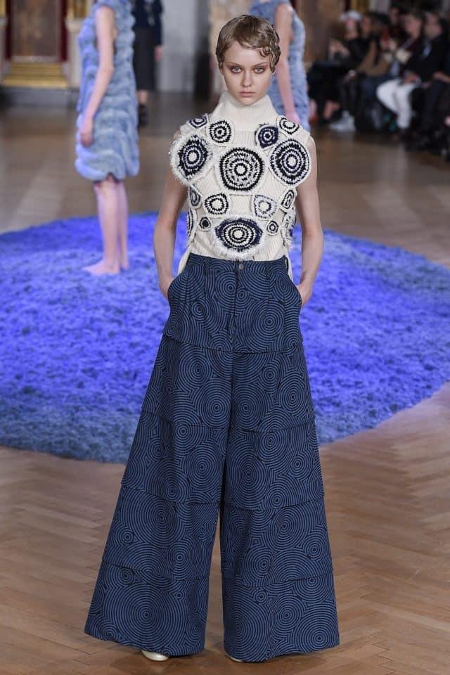 anrealage crochet motif shirt