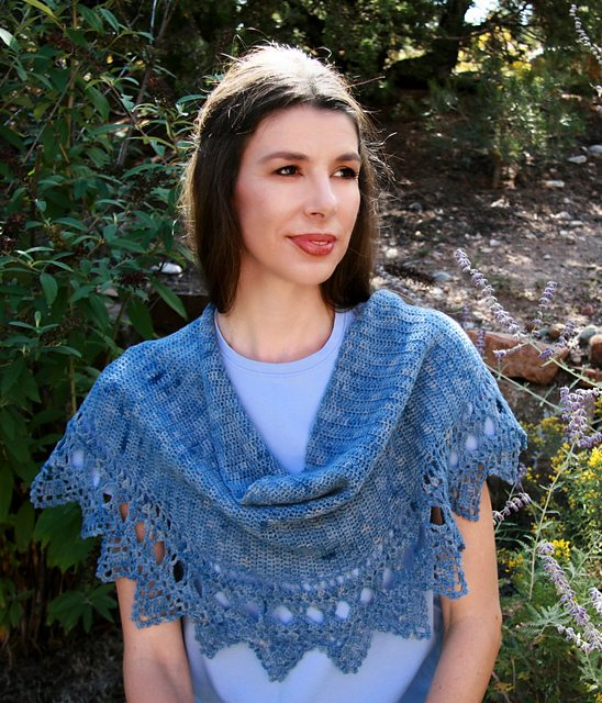 breeze shawl crochet pattern by karen whooley